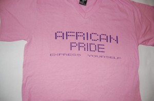 African Pride  Pink T-Shirt