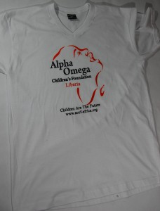 Orange and Black Alpha Omega Children's foundation